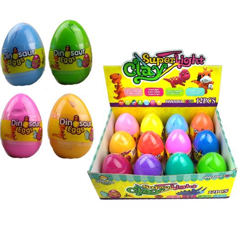 Набор пластилина в большом пластиковом яйце CLAY DOLL 1кор*1бл*12шт