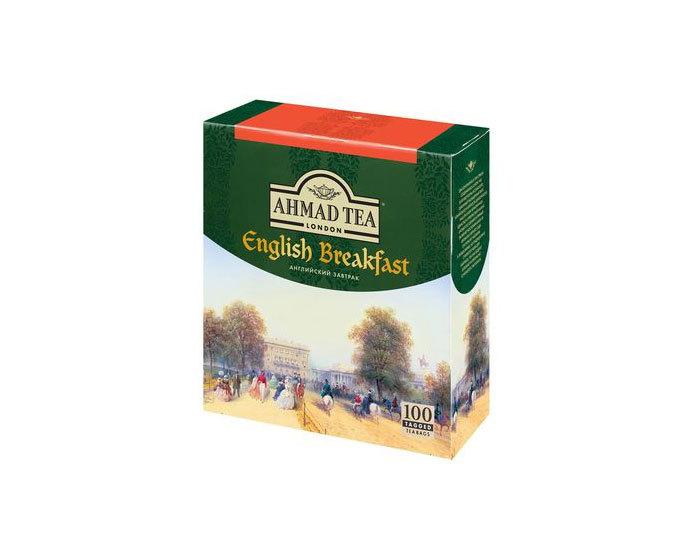 Чай черный в пакетиках Ahmad Tea English Breakfast, 100 пак/уп (Ахмад)