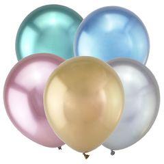 Т 12 Зеркальные шары, Ассорти Метал  / Mirror Assorted / 50 шт. /