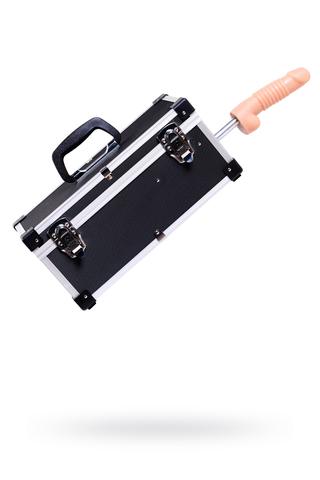 Секс- чемодан Diva, Tool Box с двумя сменными насадками, металл, черный,  41 см