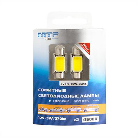 Светодиодные лампы MTF Light COB LED C5W/SV8.5/36mm (4500K)