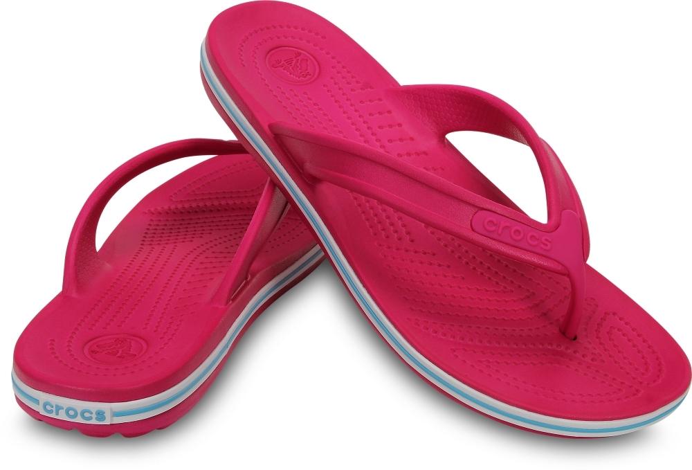 Сандалии Крокс Crocband LowPro Flip Candy Pink/Electric Blue 15690 фото