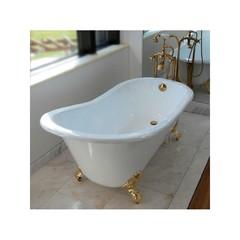 Ванна чугунная классическая Magliezza Gracia 170x76 в компелкте с ножками золото