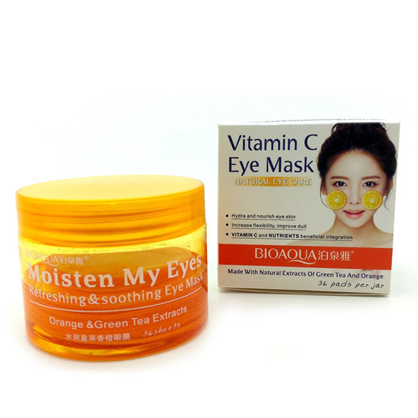 Bioaqua Маска/Патчи для век с витамином C Vitamin C Eye Mask, 36 шт