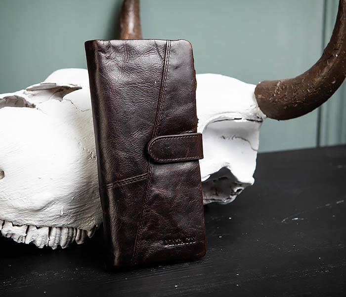 WL252-3 Стильный мужской клатч из кожи со съемным отделением фото 01