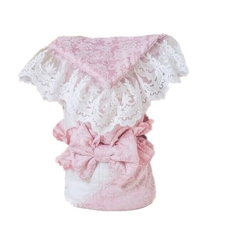 Конверт для новорожденных на выписку Elegance роза