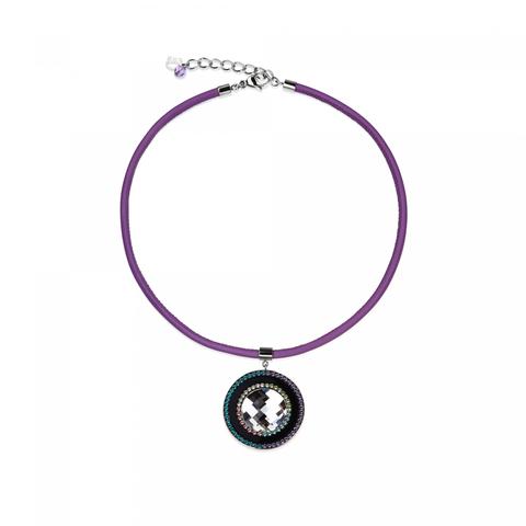 Колье Coeur de Lion 4588/10 цвет фиолетовый, чёрный