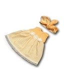 Платье летнее - Персик. Одежда для кукол, пупсов и мягких игрушек.