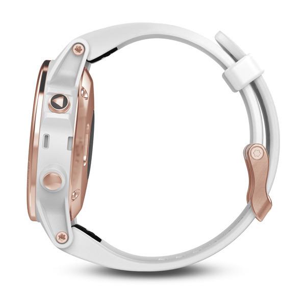 Fenix 5S Sapphire розовое золото с белым браслетом