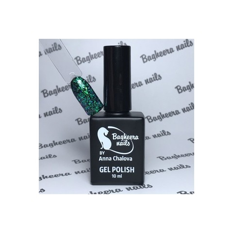 Bagheera Nails BN-76 изумрудно-бирюзовый опал гель-лак 10 мл