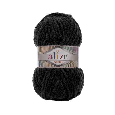 Купить Пряжа Alize Softy Plus Цвет 60 Черный | Интернет-магазин пряжи «Пряха»