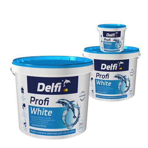 Водоэмульсионная краска Delfi Profi White