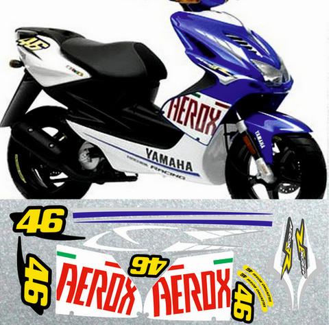 Набор виниловых наклеек на мотоцикл YAMAHA AEROX 2007