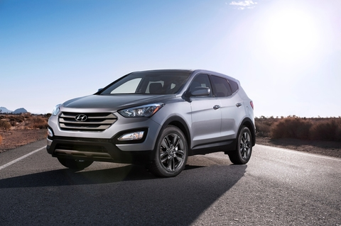Защита фар для Hyundai Santa Fe 2006-2012 карбон, 2 части, EGR (214050)