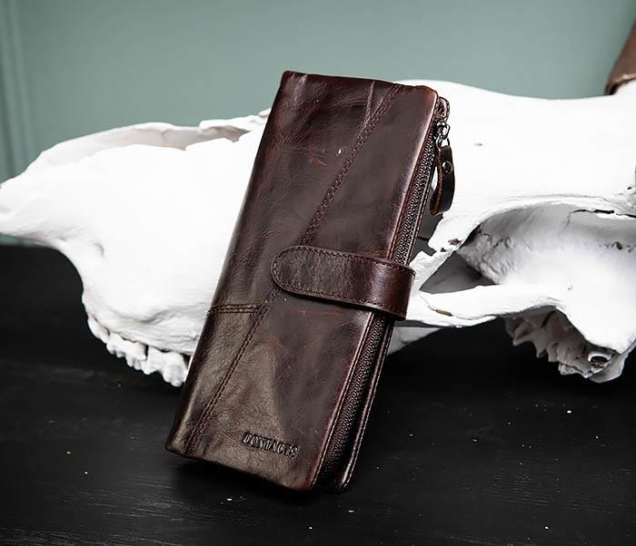 WL252-3 Стильный мужской клатч из кожи со съемным отделением фото 03