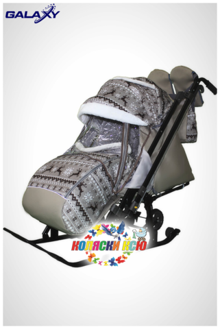 Санки коляска GALAXY KIDS 1-2 «скандинавская ночь»