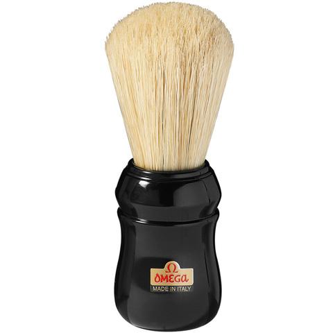 Помазок для бритья Omega,натуральный кабан,черная ручка.Сделано в Италии. 10049