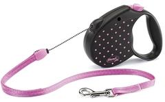 Поводок-рулетка Flexi Color S (до 12 кг) трос 5 м розовая