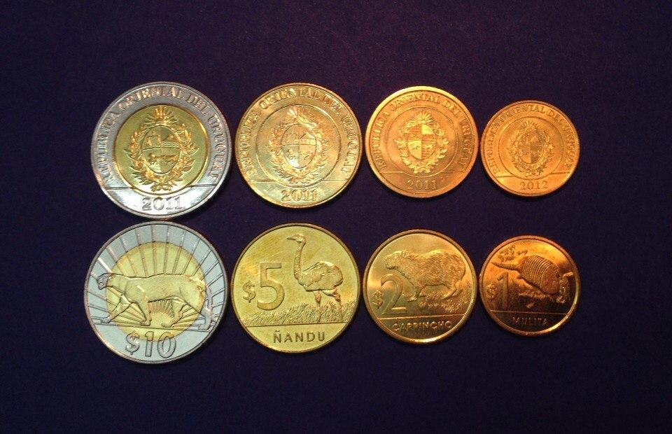 """Набор долларов 2011-2012 гг. """"Животные"""". Уругвай"""
