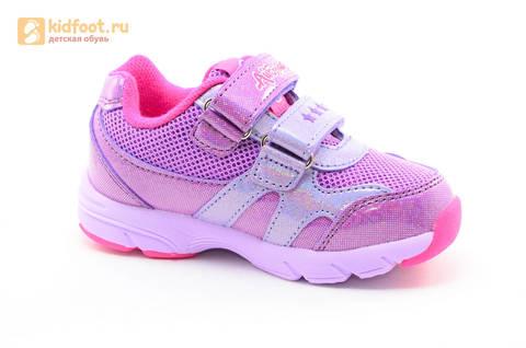 Светящиеся кроссовки для девочек Пони (My Little Pony) на липучках, цвет сиреневый, мигает картинка сбоку,  5873B. Изображение 2 из 15.