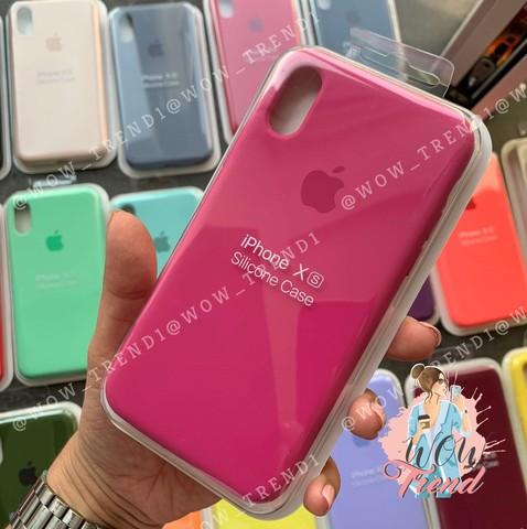 Чехол iPhone 7/8 Silicone Case Full /dragon fruit/ тёмная фуксия