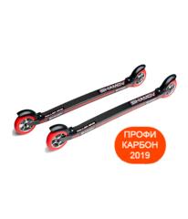 Профессиональные карбоновые лыжероллеры Shamov 04-3PU для конькового хода, колеса полиуретан 100 мм