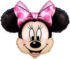 Фольгированный шар голова Минни Маус