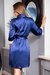 Халат шелковый Kristy синий