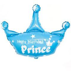 К Мини-фигура, Корона, С ДР Принц, Голубой, 17''/43 см, 5 шт.