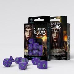 Classic Runic Purple & Green Dice Set