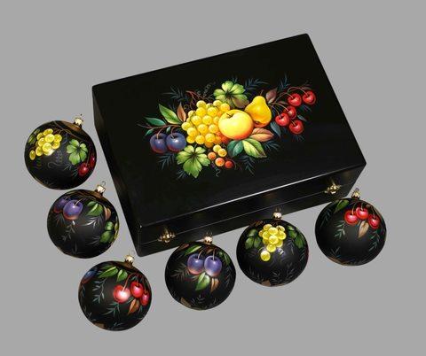 Набор из 6 елочных шаров в шкатулке SET04D-667785783