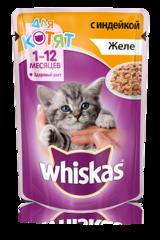 Whiskas для котят желе с индейкой 85 гр