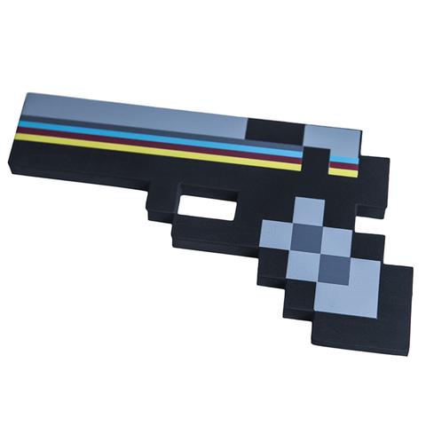 Пистолет Майнкрафт (Minecraft) пиксельный Черный