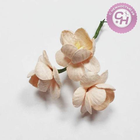Цветы вишни из бумаги 2,5 см, букет 3 шт.