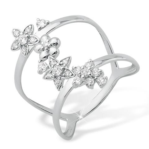 Кольцо  из серебра  с фианитами арт.1010010927