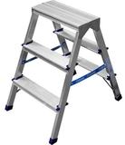 Лестница-стремянка двухсторонняя алюминиевая
