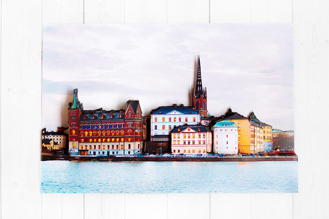 Вечерний Стокгольм - готовая работа, фронтальный вид.
