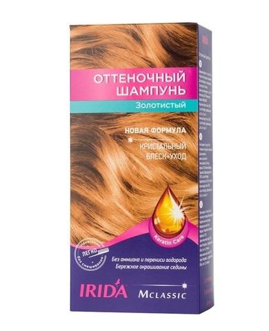 Irida Irida М classic Оттеночный шампунь для окраски волос Золотистый 3*25мл