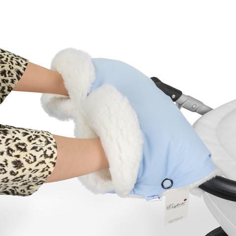 Муфта Esspero Soft Fur Lux для рук на коляску (Натуральная шерсть)