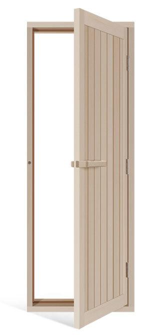 Двери: Дверь деревянная с порогом 700*2040 мм, ель, 734-4SU