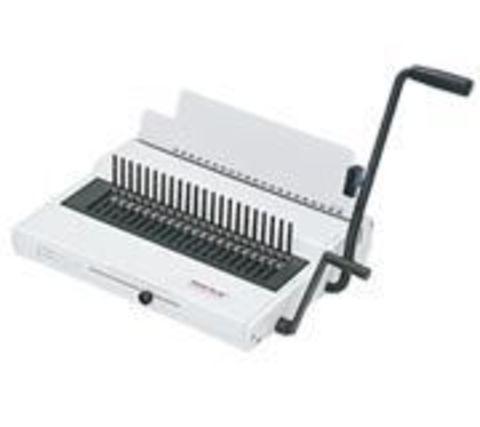 Renz Combinette - офисный переплётчик с электроприводом для работы с пластиковой пружиной.