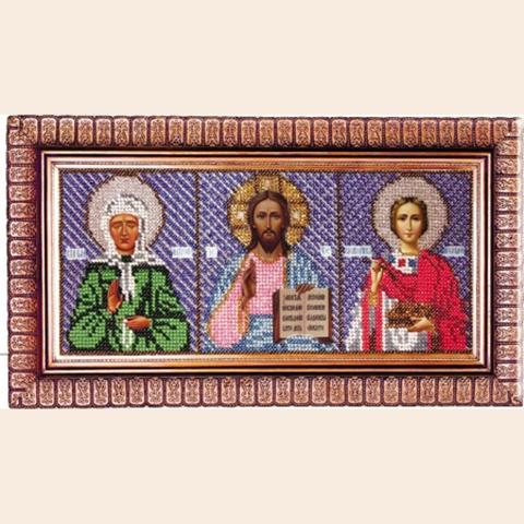 L-6 Триптих (Матрона Московская, Спас Вседержитель, Пантелеймон Целитель)