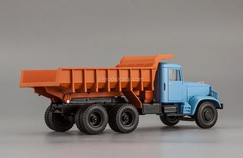 KRAZ-222B dump 1963-1966 blue-brown 1:43 Nash Avtoprom
