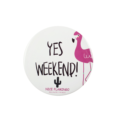 Зеркало Today is a good day Flamingo Weekend