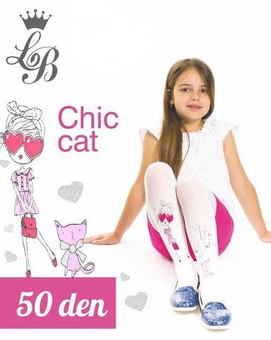 Колготки LB CHIC CAT (белый) 50 den