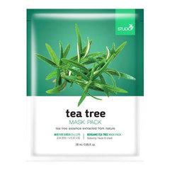 Bergamo Tea Tree Mask Pack - Маска тканевая для лица с чайным деревом