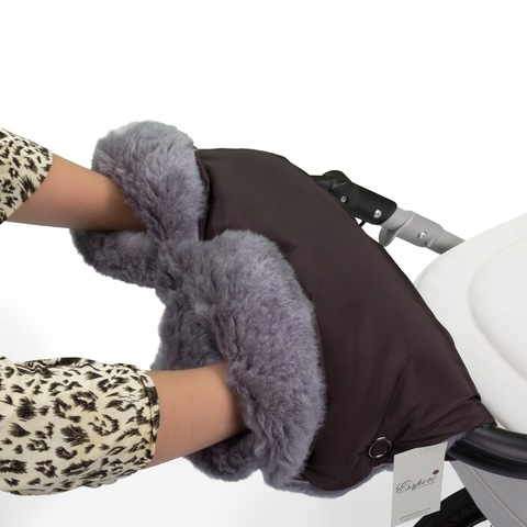 Муфта Esspero Four Lux для рук на коляску (Натуральная шерсть)