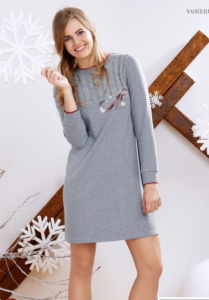 Трикотажное домашнее платье Miss Lingerie