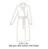 Элитный халат мужской Sultan темно-серый от Hamam