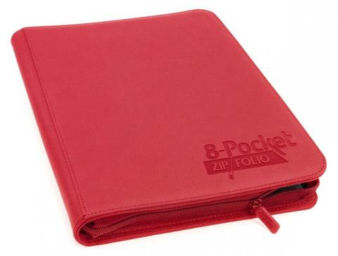 Ultimate Guard - Красный гибкий альбом XenoSkin на молнии на 320 карт (4х2)